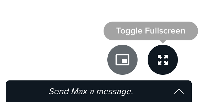 The Fullscreen icon
